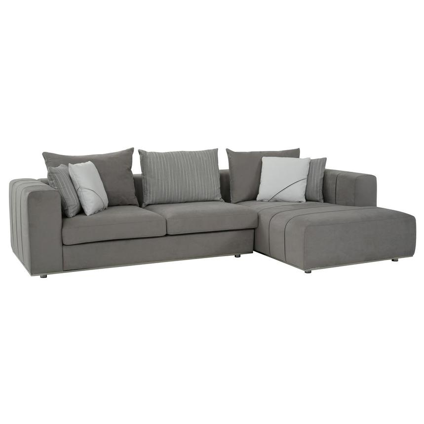 Silvia Sectional Sofa w/Right Chaise  alternate image, 2 of 10 images.