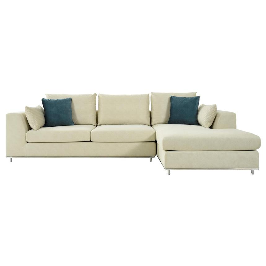 Grigio Cream Sectional Sofa w/Right Chaise  alternate image, 2 of 9 images.