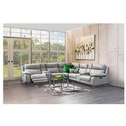 Barry Gray Leather Power Reclining Sectional  alternate image, 3 of 13 images.