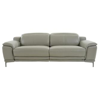 Katherine Taupe Leather Power Reclining Sofa