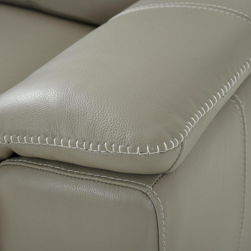 Katherine Taupe Leather Power Reclining Loveseat  alternate image, 8 of 12 images.