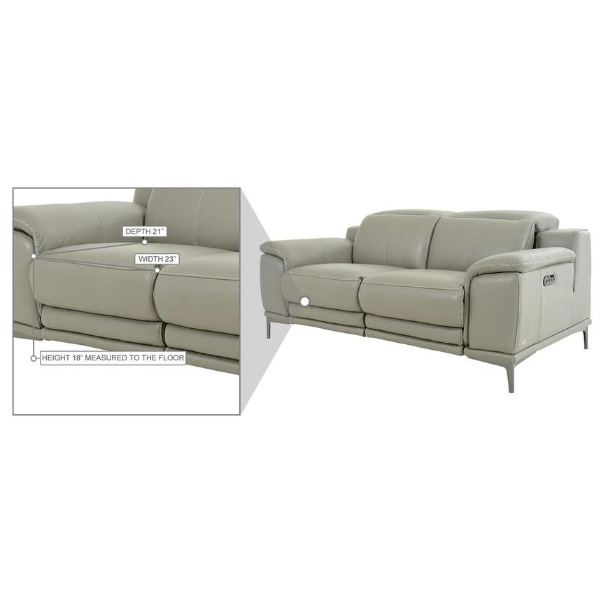 Katherine Taupe Leather Power Reclining Loveseat  alternate image, 11 of 12 images.