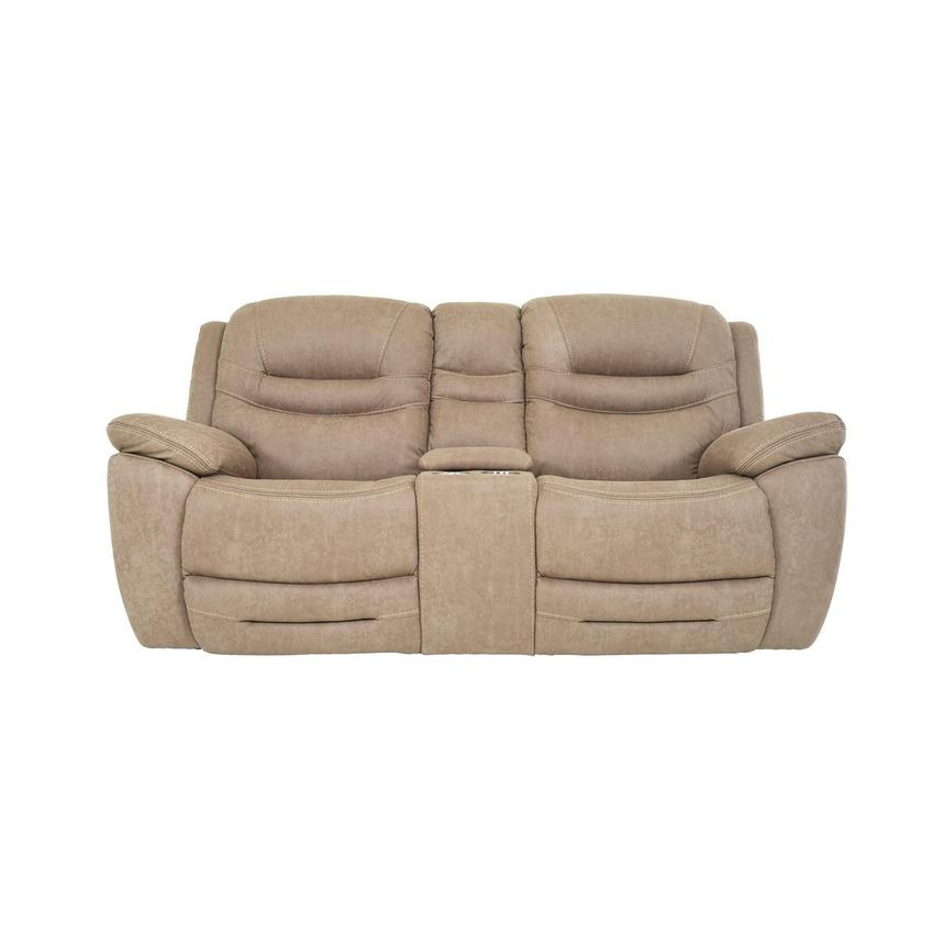 Dan Cream Power Reclining Sofa w/Console  main image, 1 of 12 images.