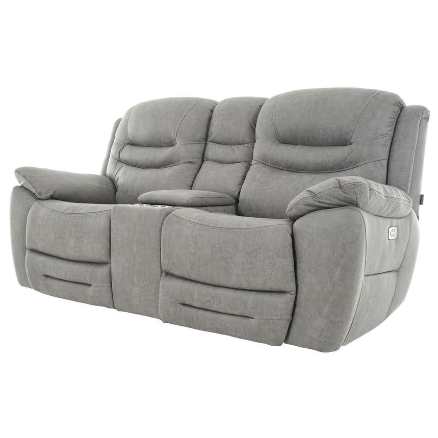 Dan Gray Power Reclining Sofa w/Console  alternate image, 2 of 13 images.