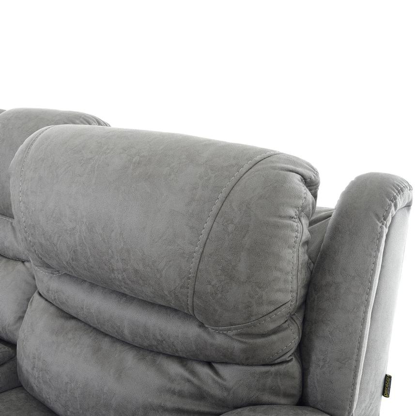 Dan Gray Power Reclining Sofa w/Console  alternate image, 6 of 12 images.