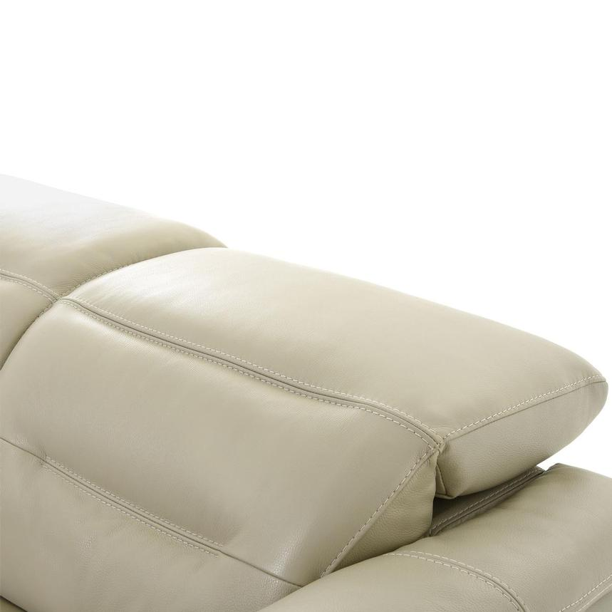 Anabel Cream Leather Loveseat  alternate image, 7 of 11 images.
