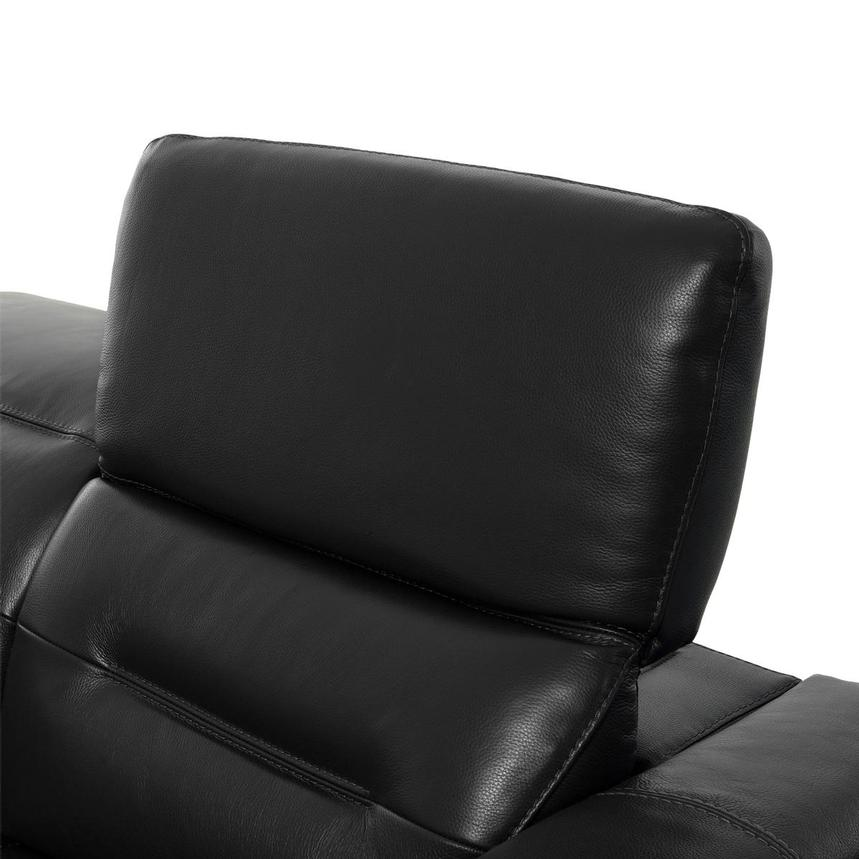 Anabel Gray Leather Loveseat  alternate image, 6 of 10 images.