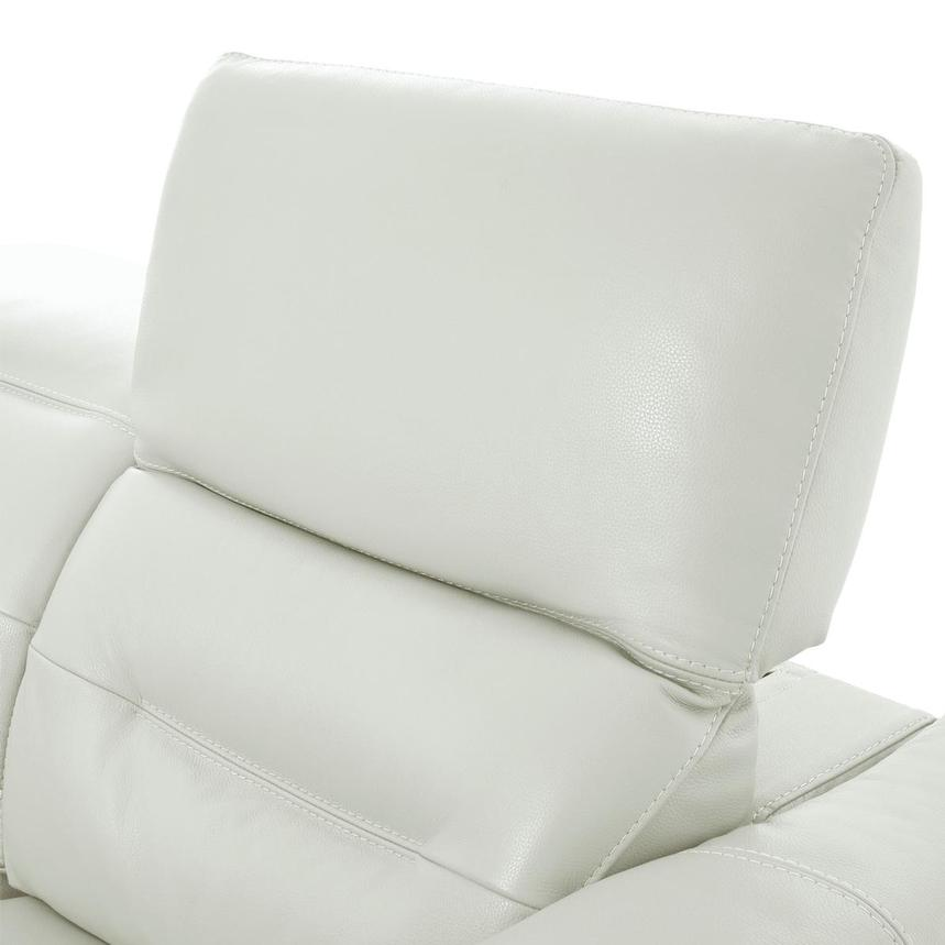 Anabel White Leather Loveseat  alternate image, 6 of 10 images.
