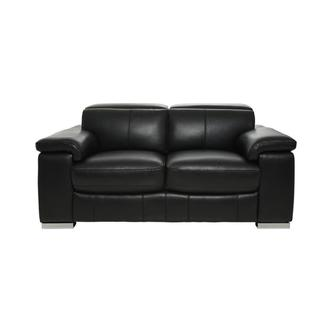 Charlie Black Leather Loveseat