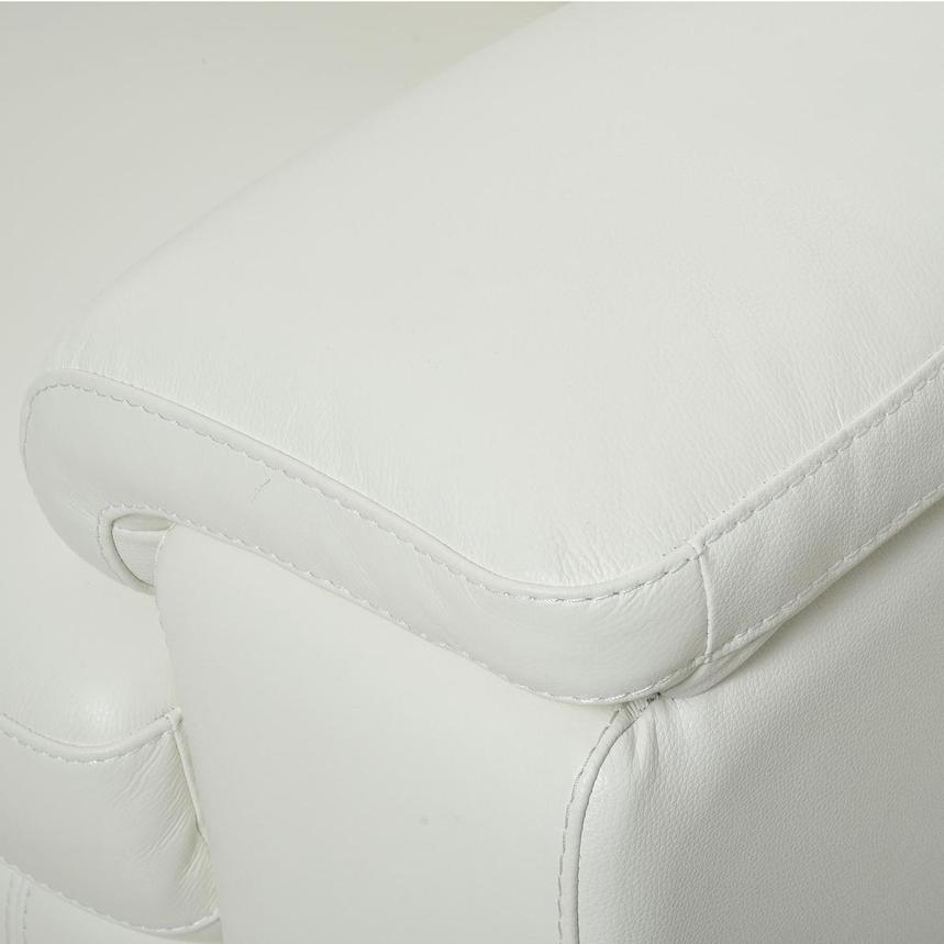 Charlie White Leather Loveseat  alternate image, 8 of 10 images.
