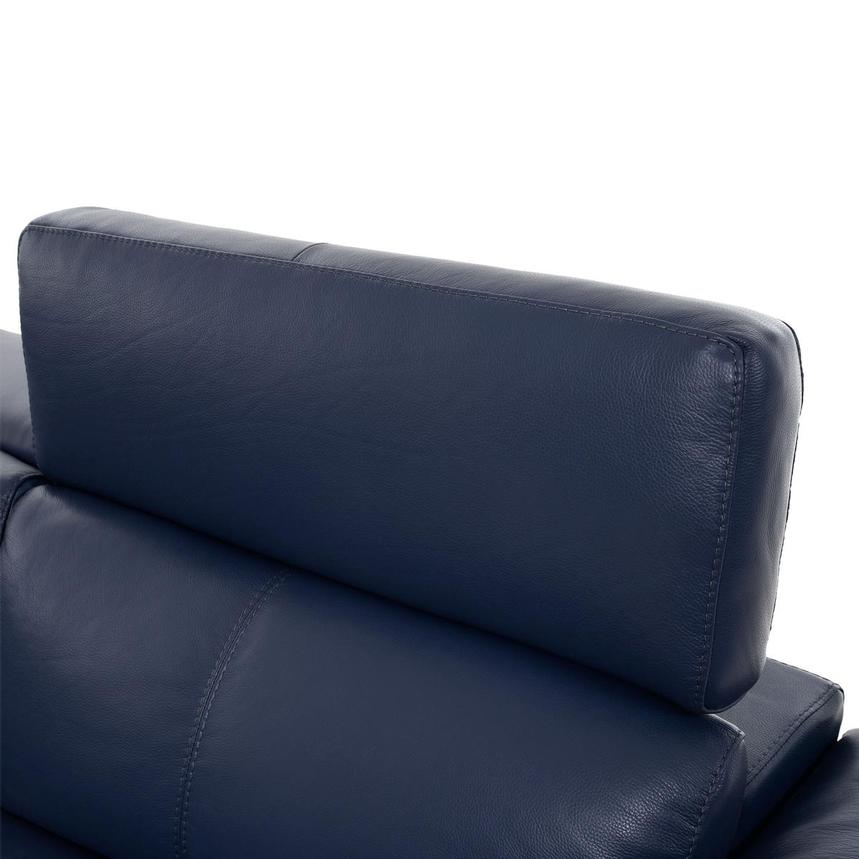 Charlie Blue Leather Power Reclining Sectional  alternate image, 5 of 10 images.