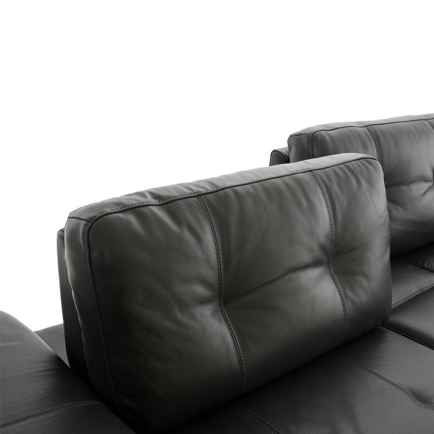 Shale Dark Gray Leather Sectional Sofa  alternate image, 6 of 12 images.