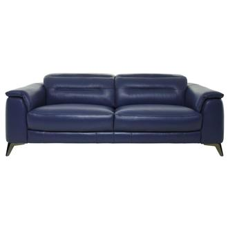 Anabel Blue Leather Sofa
