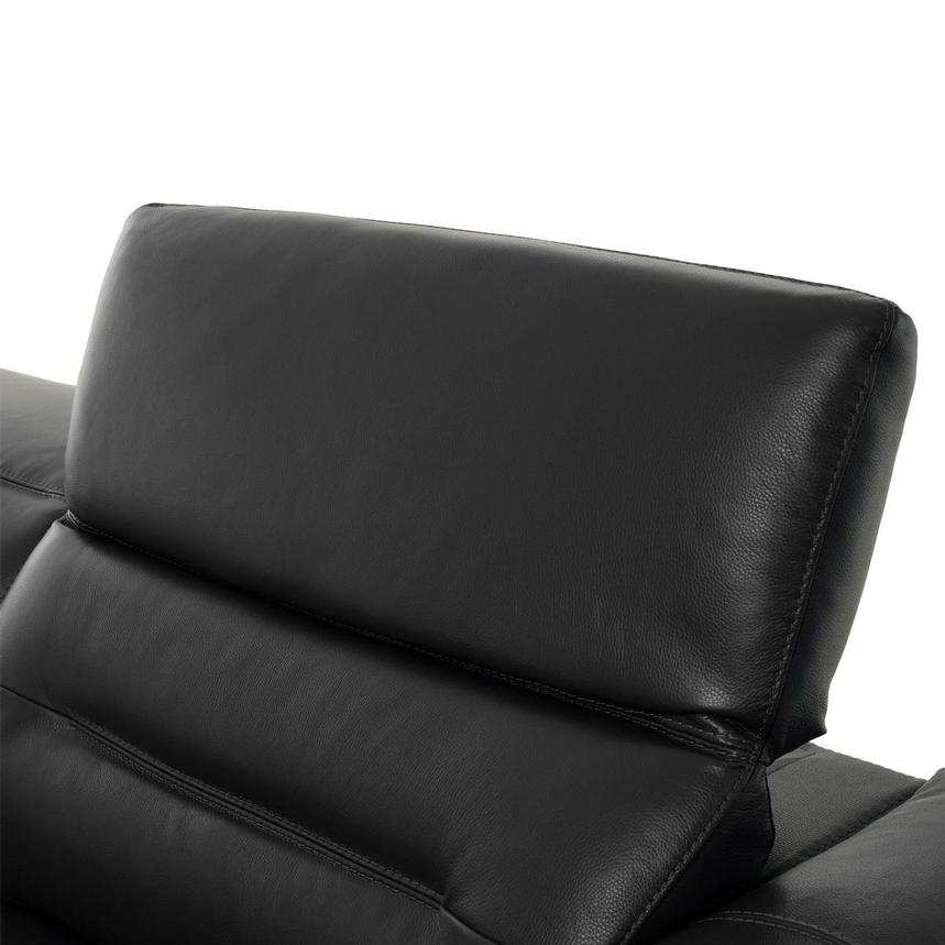 Anabel Gray Leather Sofa  alternate image, 6 of 11 images.