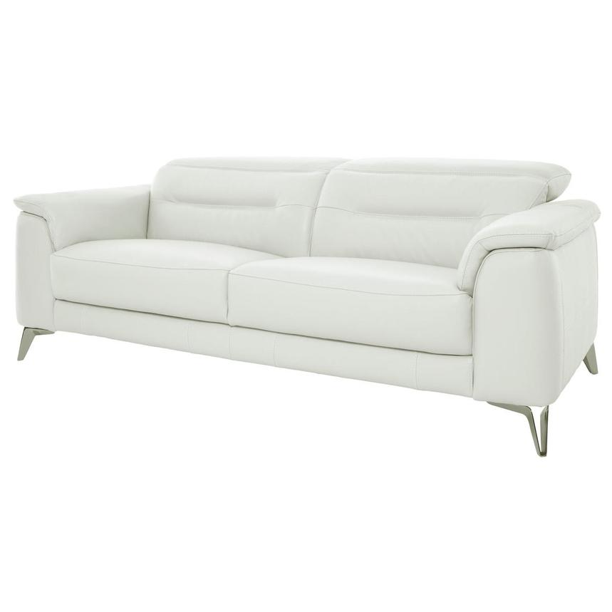 Anabel White Leather Sofa  alternate image, 2 of 11 images.