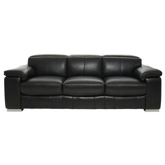 Charlie Black Leather Sofa