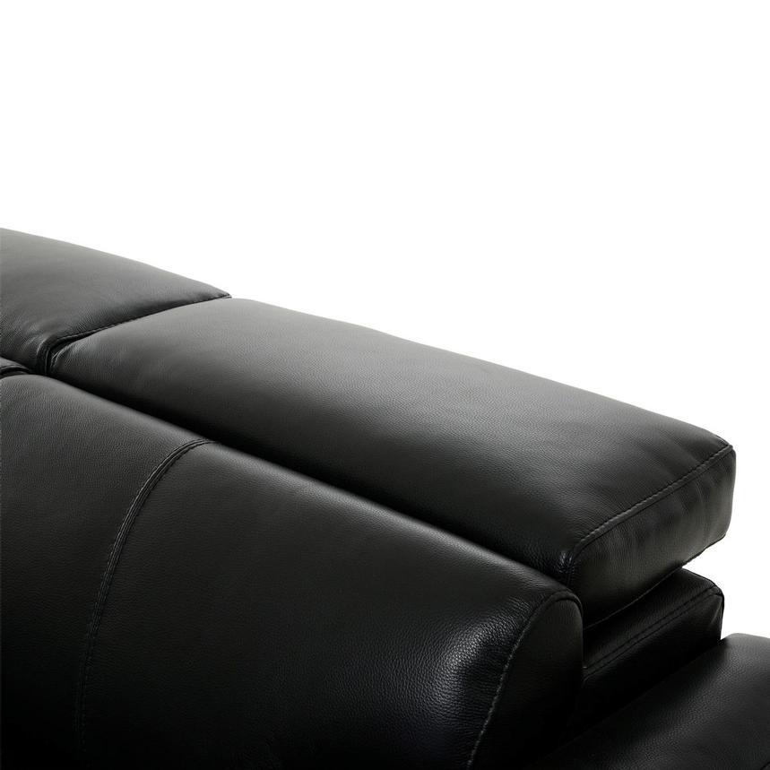 Charlie Black Leather Sofa  alternate image, 7 of 11 images.