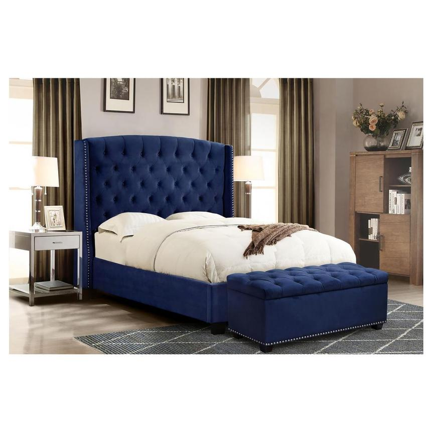 Majestic II Blue King Platform Bed  alternate image, 2 of 8 images.