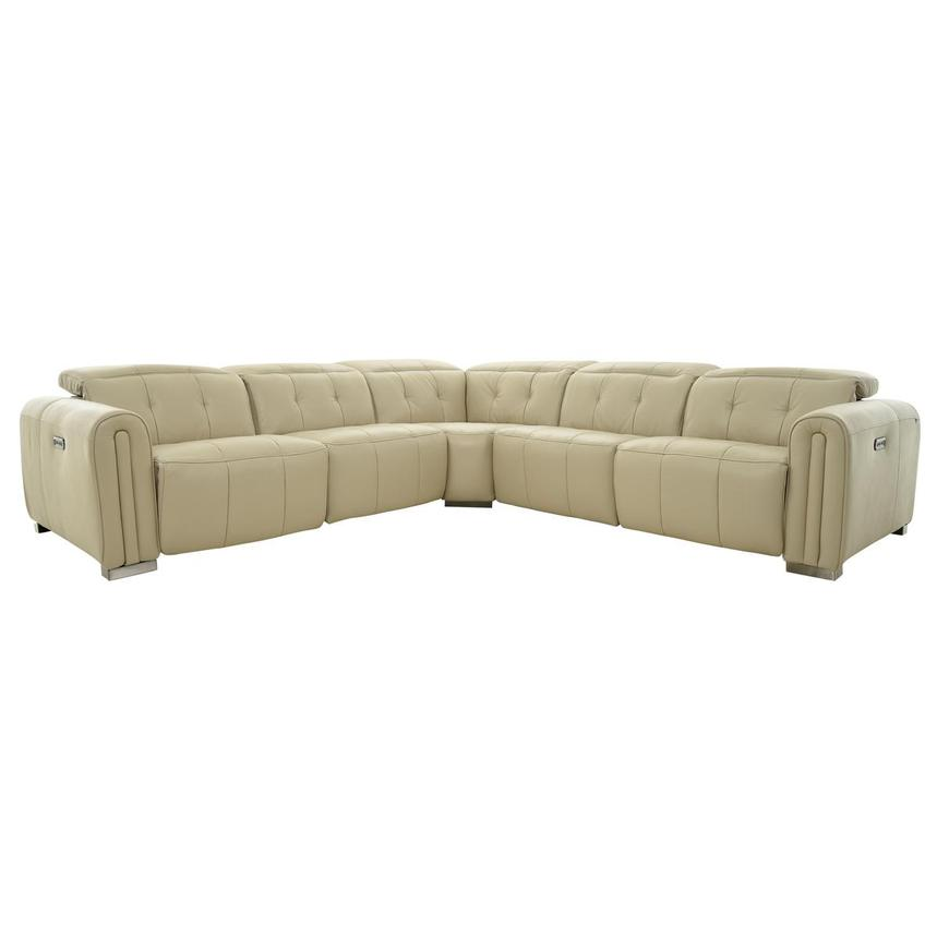 Dolomite Leather Power Reclining Sectional  main image, 1 of 11 images.