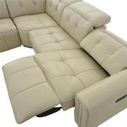 Dolomite Leather Power Reclining Sectional  alternate image, 5 of 11 images.