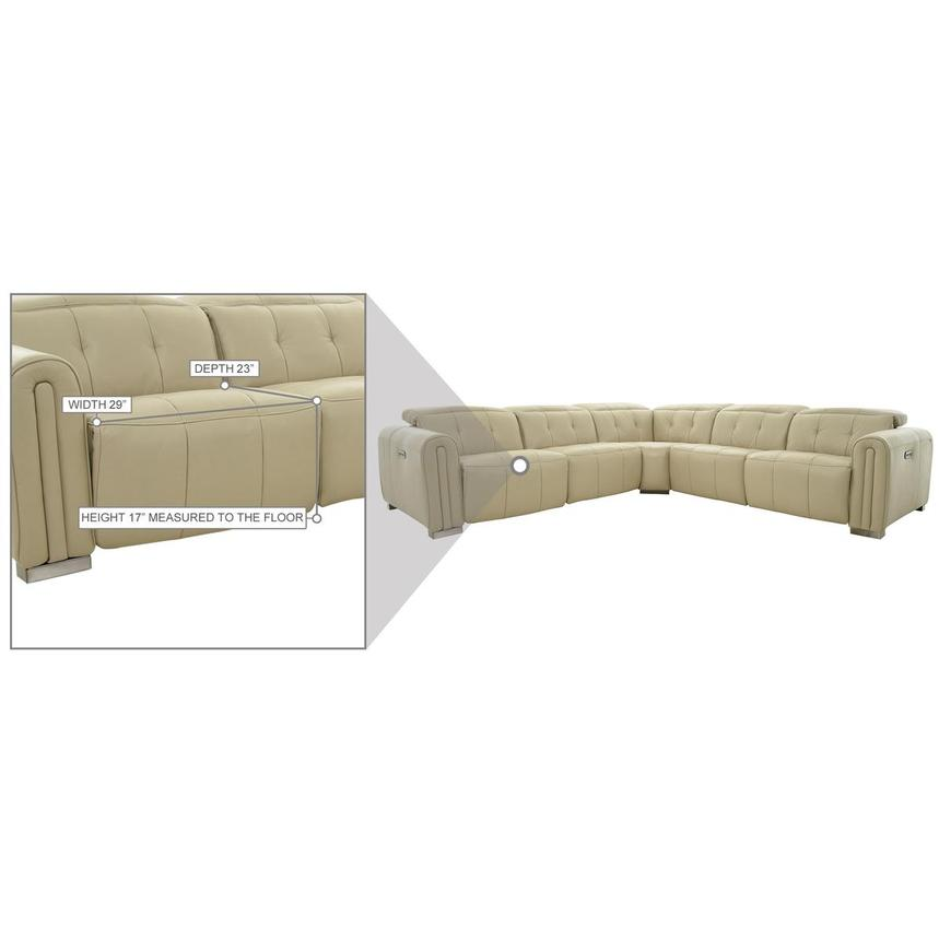 Dolomite Leather Power Reclining Sectional  alternate image, 11 of 11 images.