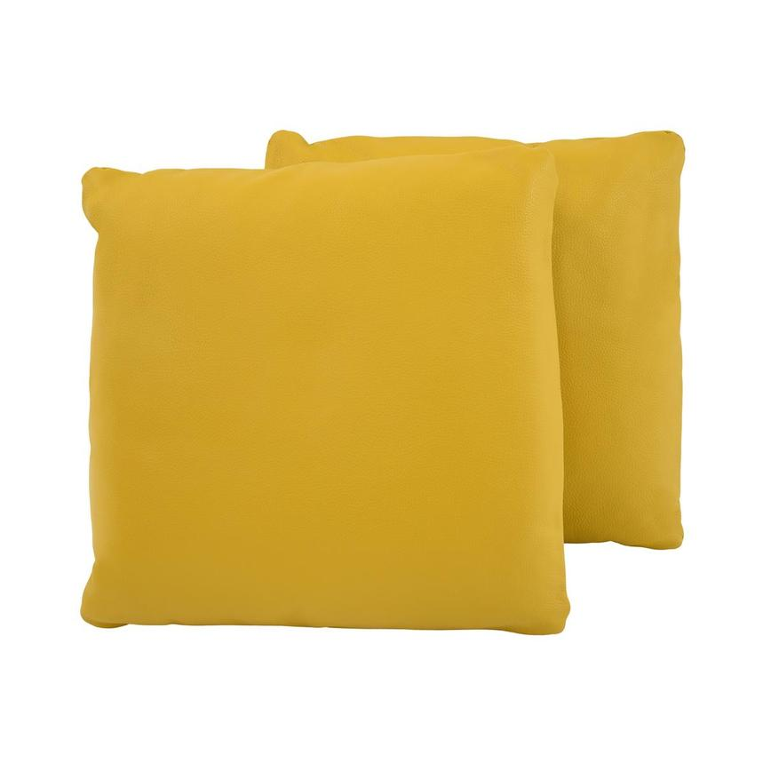 Cute Yellow Two Accent Pillows  main image, 1 of 4 images.