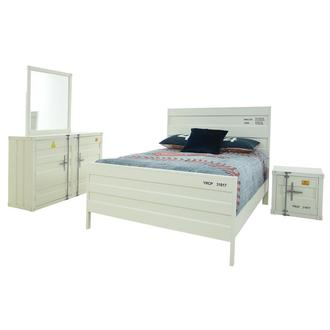 Cruise White 4-Piece Full Bedroom Set