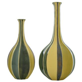 Corinne Yellow Set of 2 Vases
