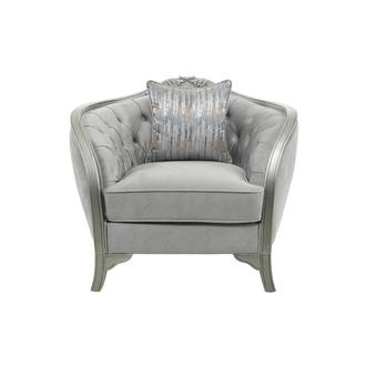 Vivaldi Silver Accent Chair