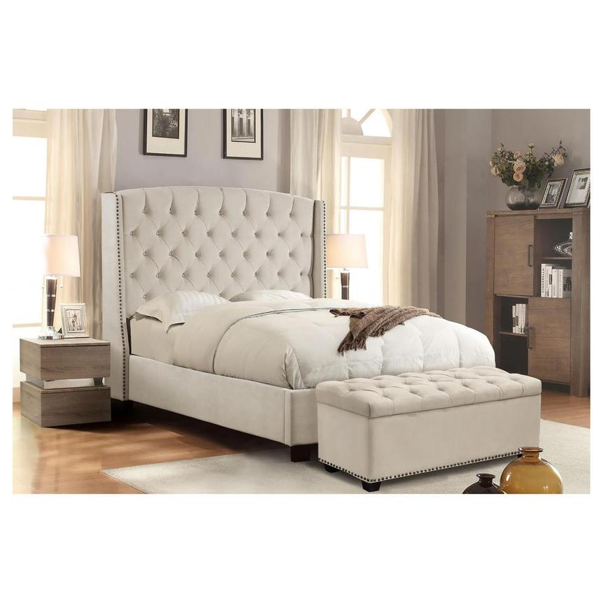 Majestic II Cream Queen Platform Bed  alternate image, 2 of 8 images.
