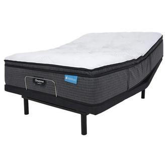 Harmony Cayman-Med Soft Queen Mattress w/Essentials IV Powered Base by Serta