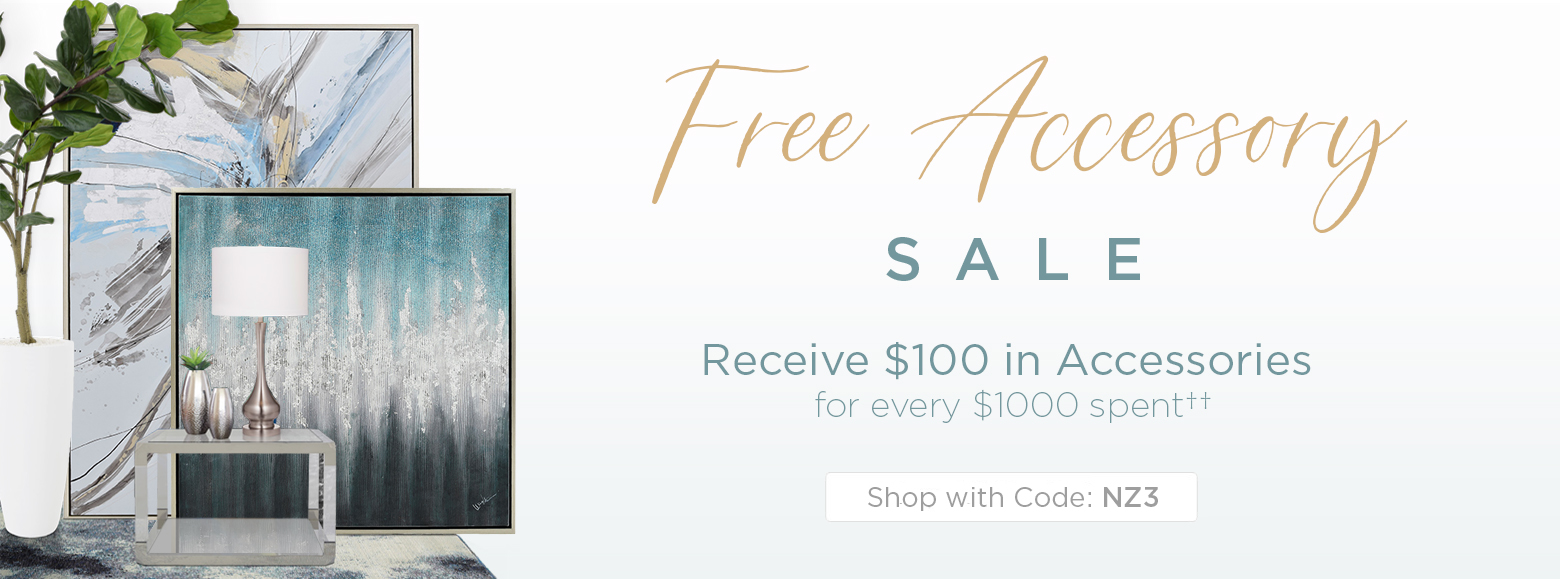 Free Accessory Offer. Get $100 in Accessory for every $1000 spent