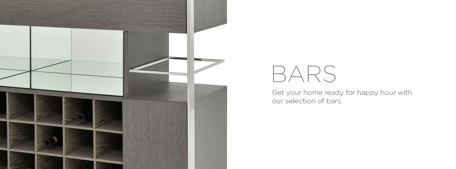 Bars. Get your home ready for happy hour with our selection of bars.