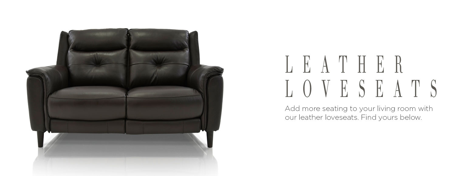 Leather loveseats. Add more seating to your living room with our leather loveseats. Find yours below.
