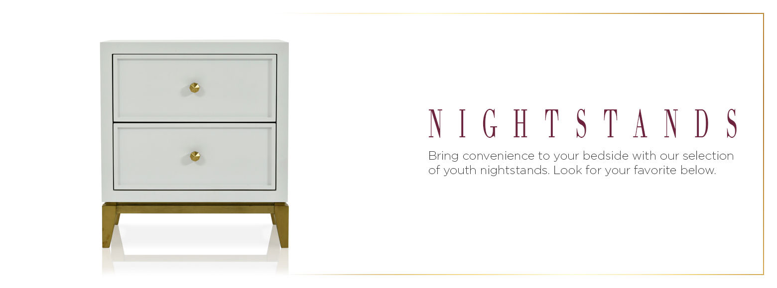 Nightstands. Bring convenience to your bedside with our selection of youth nightstands. Look for your favorite below.