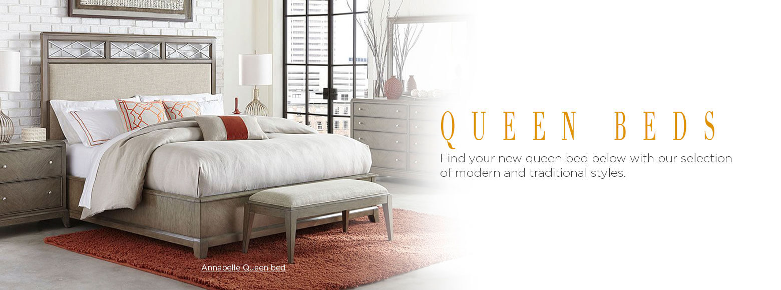 Queen beds. Design the bedroom you have always wanted with one of our beautiful queen beds. Annabelle Queen Platform Bed.