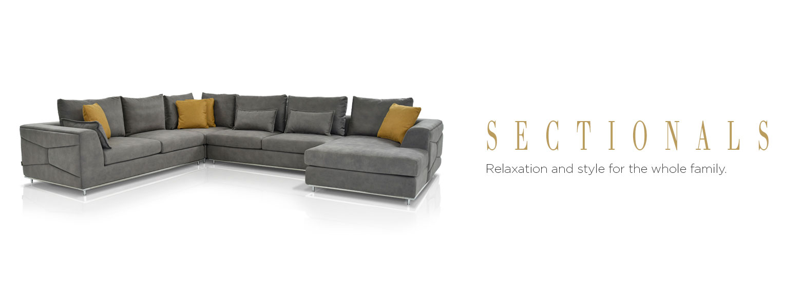 Sectionals. Relaxation and style for the whole family.