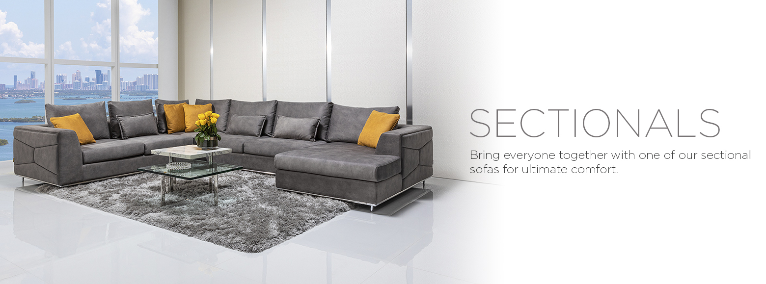 Sectionals. Bring everyone together with one of our sectional sofas for ultimate comfort.